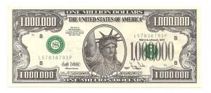 1000000 dollar bill